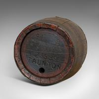 Pair Of, Antique Whiskey Pins, Oak, Barrel, Side Table, Taunton, Victorian, 1900 (4 of 11)
