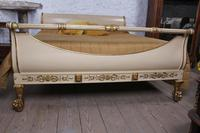 Very Rare Renaissance Style Sleigh Bed with Parcel Gilt (7 of 15)