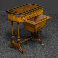 Victorian Walnut Games / Sewing Table (5 of 8)