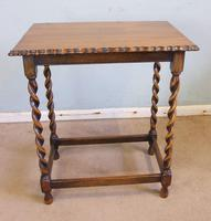 Antique Oak Barley Twist Occasional Table (2 of 5)