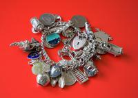 A Vintage 1963 Heavy Silver Charm Bracelet With 38 Silver Charms - Ideal Birthday Present  / Boxed (6 of 10)