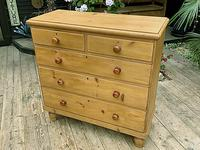 Fabulous & Large Old Pine Chest of Drawers (3 of 8)