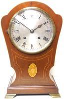 Edwardian Tulip shaped 8-Day Mantel Clock English Mahogany Inlaid Striking Mantle Clock Magnificent Size (10 of 11)