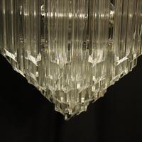 Italian Venini Crystal Triple Light Chandelier (6 of 10)