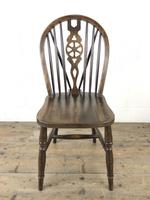 Set of Six 20th Century Wheelback Chairs including Two Carvers (10 of 20)