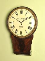 Early Large Convex Wooden Dial Clock (6 of 10)