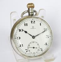 1924 silver Omega pocket watch (2 of 5)