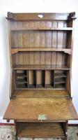 Arts & Crafts oak bureau bookcase (4 of 9)