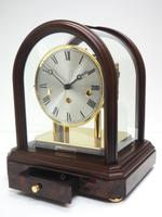 Wow! Franz Hermle & Sohne Musical Bell Chiming Mahogany & Glass Mantel Clock (3 of 13)
