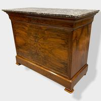 Figured Walnut & Marble Top Commode (14 of 16)