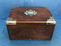 Victorian Brassbound Walnut Cigar Box (12 of 19)