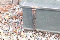 Scandinavian / Swedish 'Folk Art' original paint green/blue large table/alms/bible box raised on feet 1852 (18 of 36)