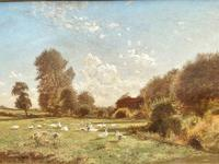 Arrival of the Geese - Oil on Canvas Signed & Dated Edwad Rawstorne 1858 (2 of 7)