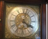 Halifax or Penny Moon 30 Hour Oak & Mahogany Longcase Clock (2 of 6)