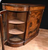 Victorian Antique Credenza Cabinet Bow End 1860 (8 of 8)