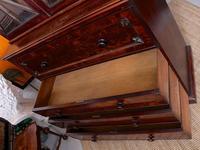 Tall Antique Secretaire Bureau Bookcase Astragal Glazed Mahogany Library Cabinet (7 of 13)
