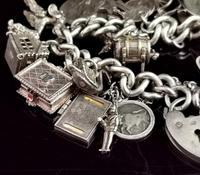 Vintage Sterling Silver Charm Bracelet, 1960s - Heavy (4 of 12)