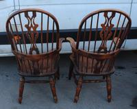1940's Pair of Oak Country Farmhouse Chairs (2 of 5)