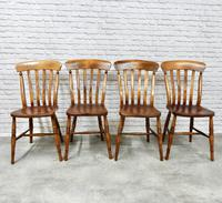 Set of 4 Lath Back Kitchen Chairs (2 of 5)