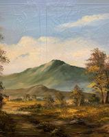 Large Early 20th Century Antique English Autumn Countryside Landscape Oil Painting (8 of 11)