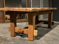 Chunky Bleached Oak Farmhouse Dining Table (11 of 12)