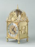 Fine Quality Late Victorian Brass W&H Lantern Mantel Clock (2 of 9)