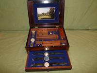 Unique Unisex Brass Bound Rosewood Jewellery Box c.1835