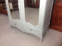 Painted French Carved Armoire in Plummet Grey (2 of 6)