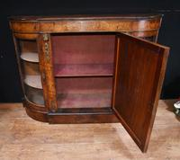 Victorian Antique Credenza Cabinet Bow End 1860 (6 of 8)
