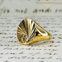 The Vintage 1987 Sunrise Diamond Signet Ring (7 of 7)
