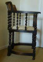 Barley Twist Oak Corner Chair (2 of 7)