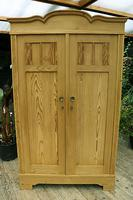 Fantastic! Old Pine 'Knock Down' Cupboard/ Wardrobe With Shelves - We Deliver! (2 of 14)
