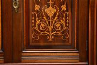 Antique Victorian Inlaid Mahogany Wardrobe by James Shoolbred (16 of 17)