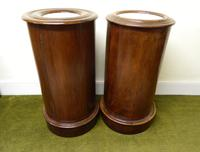 Pair of Mahogany Cylinder Bedside Cabinets (6 of 7)