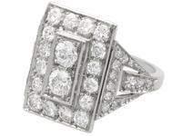 2.49ct Diamond & Platinum Dress Ring - Art Deco c.1930 (3 of 9)