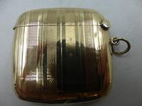 Antique 9ct Gold Vesta Case Birmingham 1911 (2 of 6)