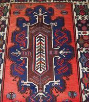 Gorgeous Vintage Tajikistan Tribal Wool Rug (5 of 6)