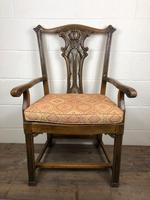 Pair of 19th Century Chippendale Style North Country Armchairs (5 of 10)