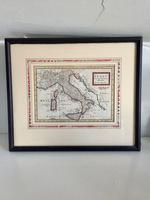 Original Map of Italy by Herman Moll Circa 1720, later framed