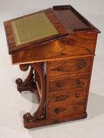 Very Good Quality Late 19th Century Rosewood Davenport (7 of 8)
