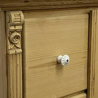 Antique Pine Bread Cupboard with Deep Drawers (4 of 6)