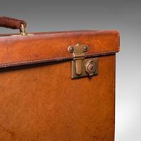 Antique Folio Case, English, Leather, Record Producer's Attache Briefcase, 1920 (10 of 12)