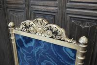 Giltwood firescreen with painted malachite panel (2 of 4)