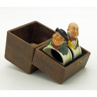 Extremely Rare Pair of Royal Doulton Dickens Napkin Rings in Original Box 1920 (3 of 8)
