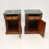 Pair of Georgian Style Marble Top Bedside Cabinets c.1930 (5 of 10)