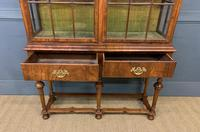 Burr Walnut Double Dome Topped Display Cabinet (7 of 18)