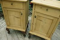 Beautiful & Unusual Old Pine Bedside Cabinets / Cupboards - We Deliver! (4 of 10)