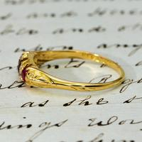 The Antique Late Victorian 1900 Ruby & Diamond Ring (2 of 4)