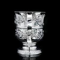 Georgian Solid Silver Loving Cup / Two Handled Cup - London 1748 (22 of 28)