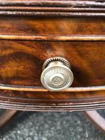 Quality Mahogany & Leather Drum Coffee Table (4 of 8)